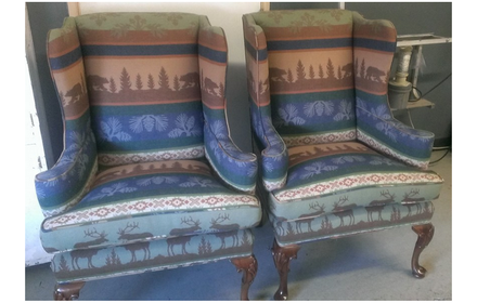 Reupholstered Cabin Chairs