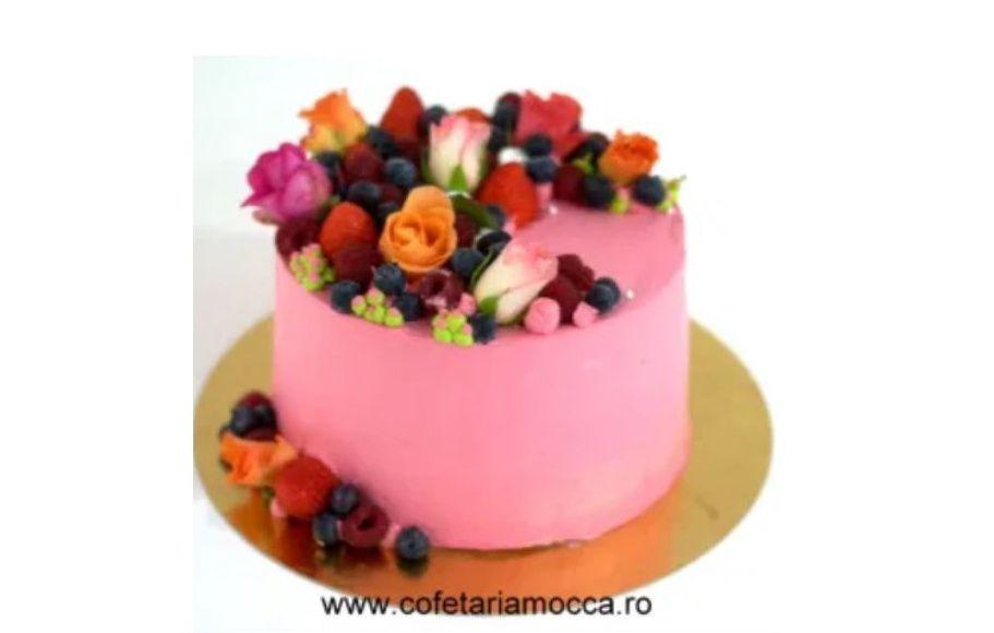 Tort cu aranjament floral – COD 211TA
