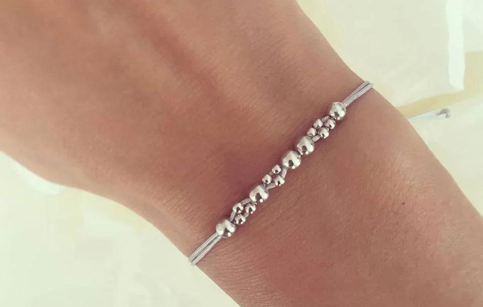 Bratara Duo Beads Argint 925 Rodiat