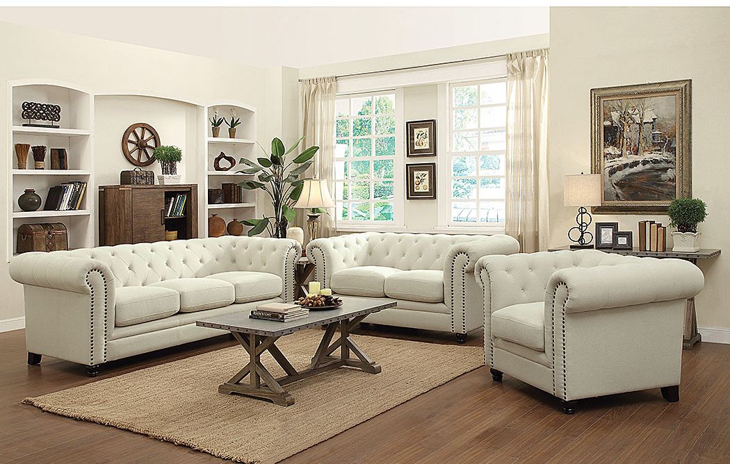 Cream Sofa & Loveseat