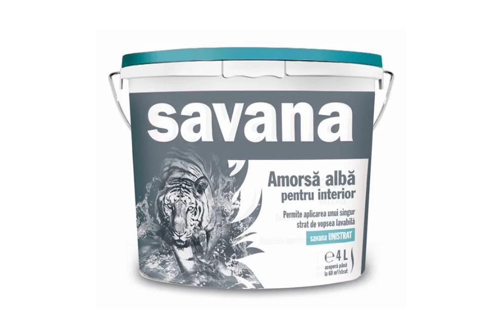 Amorsa alba pentru interior Savana 4L