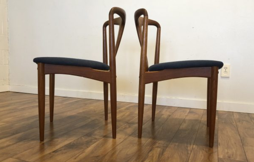 Johannes Andersen Julianne Dining Chairs, Pair