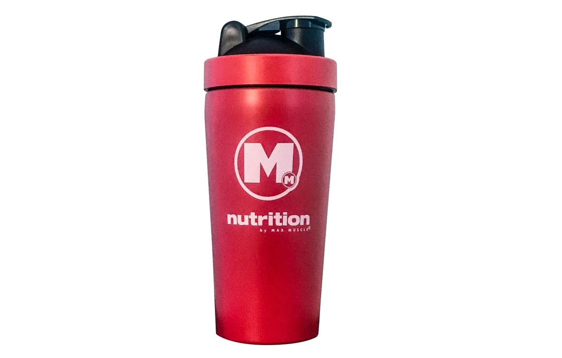 METAL RED SHAKER CUP WHITE LOGO