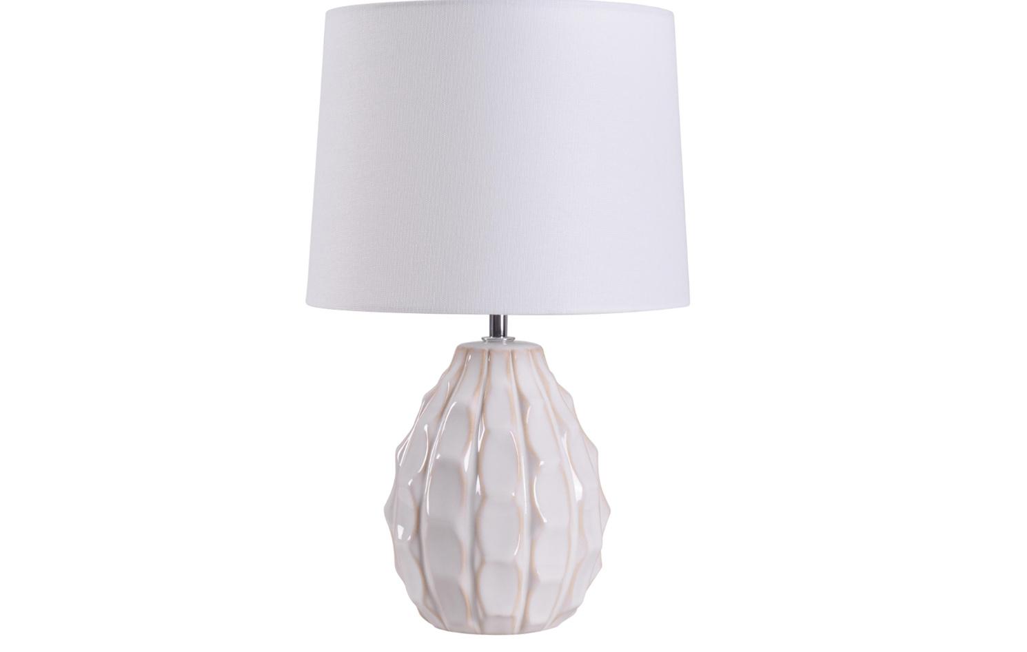 Mainstays Cream Sculptured Base Ceramic Table Lamp