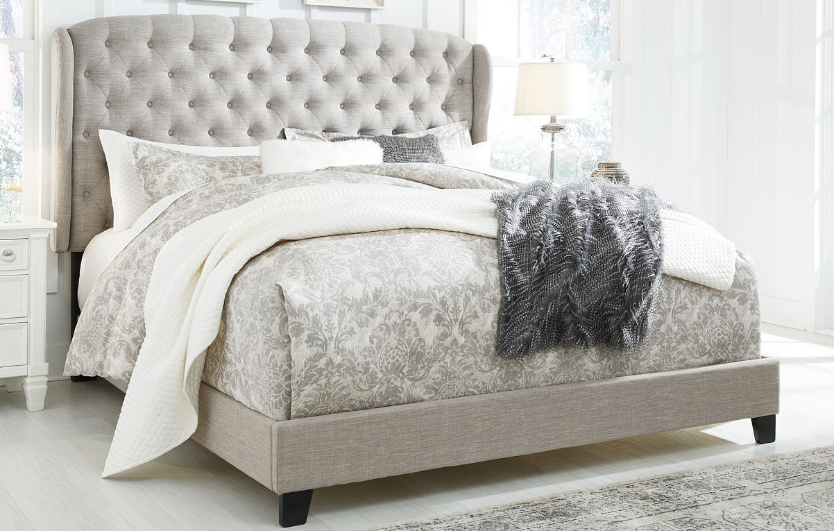 Jerary Gray King Upholstered Bed