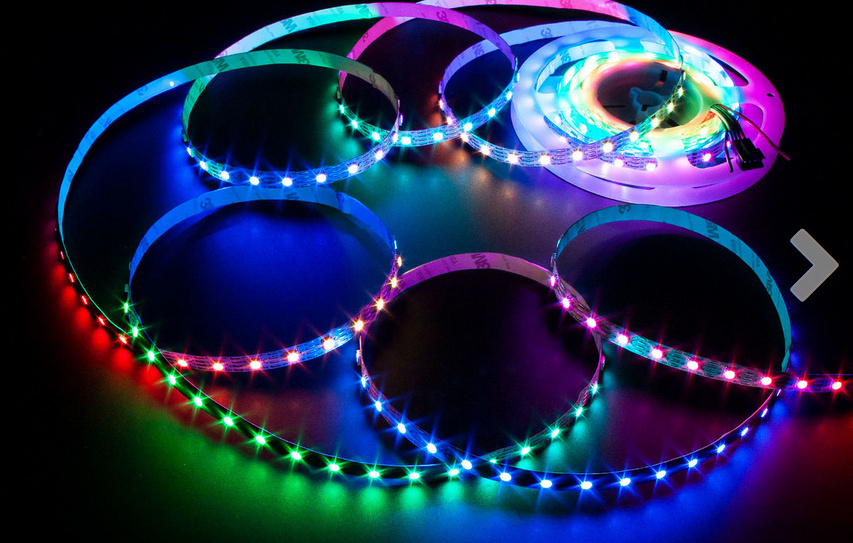 PixelDot RGB LED Strip 5050 72W (White PCB)