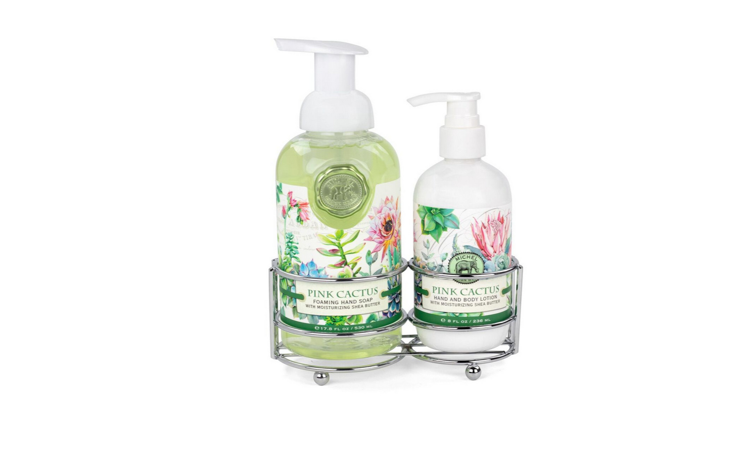 Pink Cactus Scented Hand Care Caddy Set
