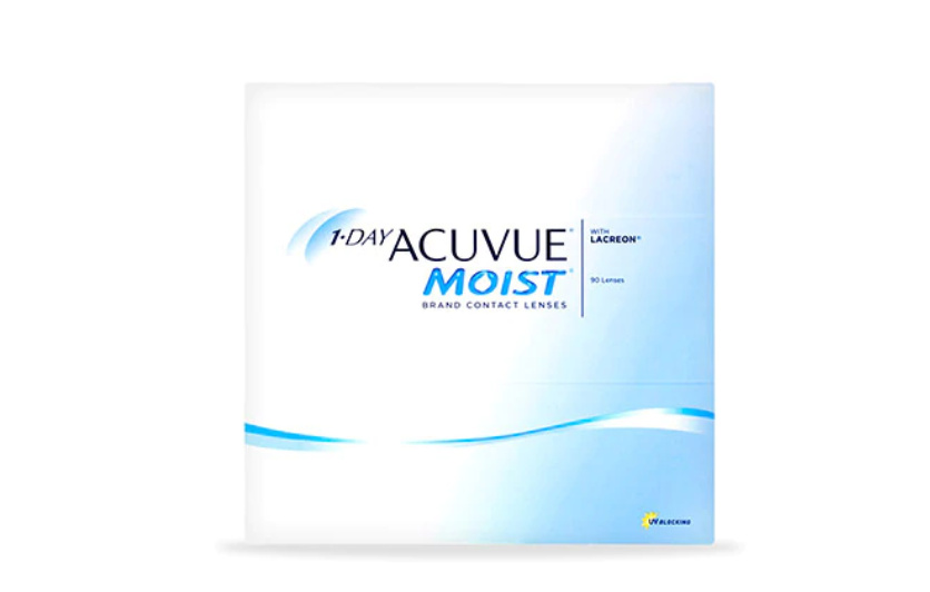 1-DAY ACUVUE® MOIST, 90 pack